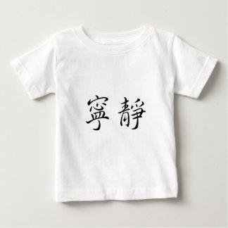Chinesisches Symbol für Ruhe Baby T-shirt