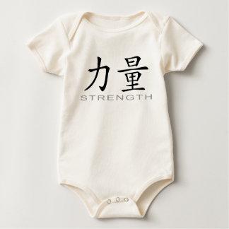 Chinesisches Symbol für Stärke Baby Strampler