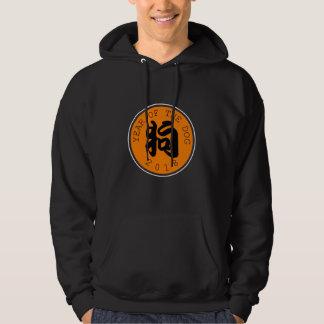 Chinesisches Symbol-orange Kreis M Hoddie des Hoodie