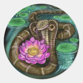 Chinesisches Tierkreis-Jahr der Schlange Runder Aufkleber