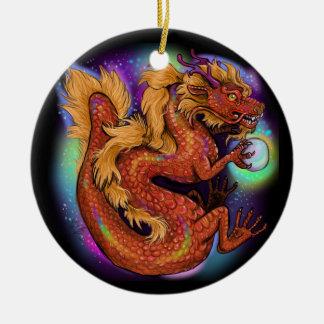 Chinesisches Tierkreis-Jahr des Drachen Keramik Ornament