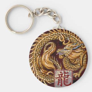Chinesisches Tierkreis-Jahr des Drachen Keychain Standard Runder Schlüsselanhänger