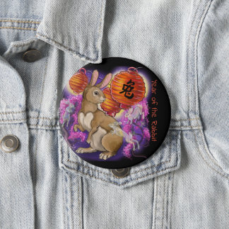 Chinesisches Tierkreis-Jahr des Kaninchens Runder Button 10,2 Cm