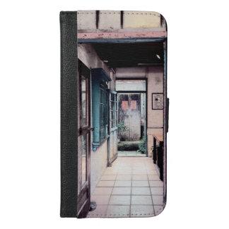 Chinesisches traditionelles Haus und Zugang iPhone 6/6s Plus Geldbeutel Hülle