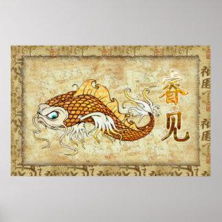 Chinesisches Wels WISSEN traditionell Poster