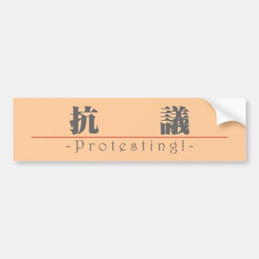 Chinesisches Wort für den Protest! 10158_3.pdf Auto Aufkleber