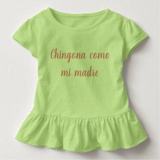 Chingona como MI madre Mädchenkinderrüsche-Shirt Kleinkind T-shirt