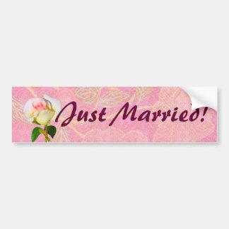 """Chinoiserie HOCHZEIT """"gerade verheirateter"""" Autoaufkleber"""