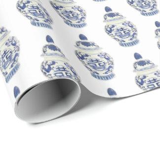 Chinoiserie-Ingwer-Glas durch Redux121DesignStudio Geschenkpapier
