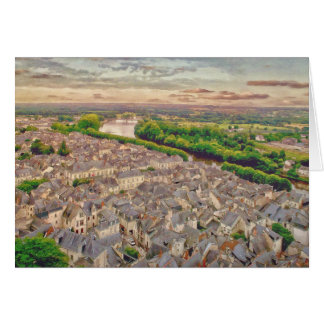 Chinon Provence Frankreich durch Shawna Mac Karte