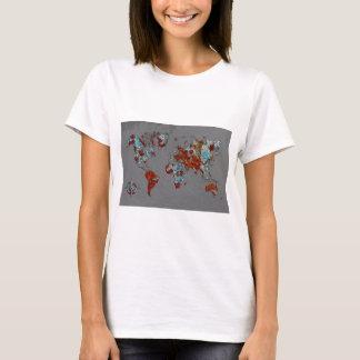 Chip-Farbe und Rost-Karte T-Shirt