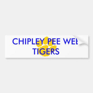Chipley Pipi-kleiner Fußball und Cheerleading Fan Autoaufkleber