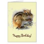 Chipmunk-Geburtstag Grußkarte
