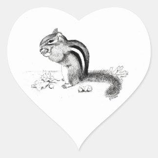 Chipmunk Herz-Aufkleber