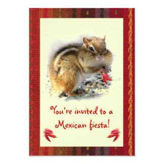 Chipmunk-mexikanische Fiesta-Einladung 12,7 X 17,8 Cm Einladungskarte
