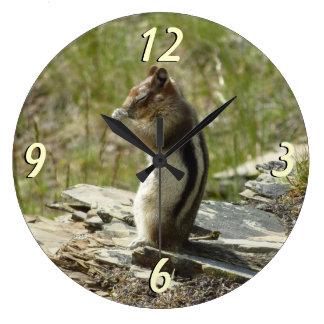 Chipmunk Natur-dem Foto in des Große Wanduhr