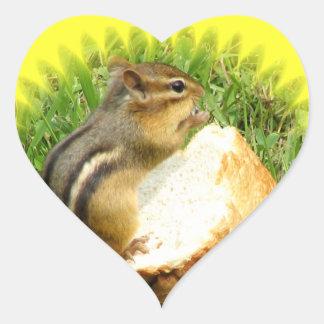 Chipmunk-Sprichwortanmut Herz-Aufkleber