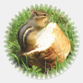 Chipmunk-Sprichwortanmut Runder Aufkleber