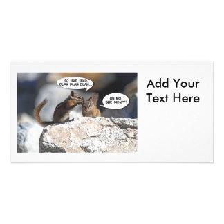 Chipmunks-saftiger Klatsch Photokartenvorlage