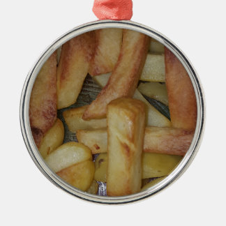 CHIPS RUNDES SILBERFARBENES ORNAMENT