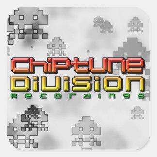 Chiptune Abteilungs-Aufnahmen Quadrataufkleber