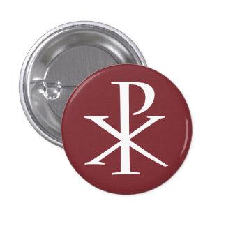 Chirho-Knopf Runder Button 3,2 Cm