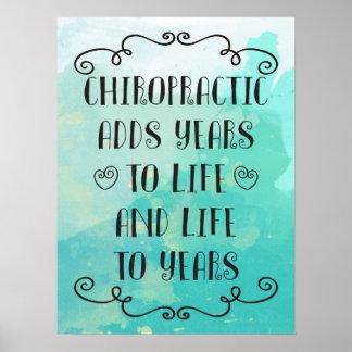 Chiropraktik fügt das Leben Plakat der Jahr-18x24