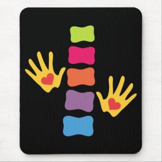 Chiropraktik-Hände und Dorn Mousepad