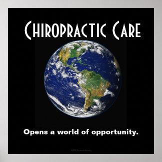 Chiropraktik-Plakat: Öffnet eine Welt der Gelegenh Poster