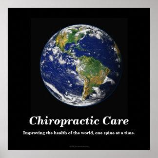 Chiropraktik-Plakat: Verbessern der Gesundheit der Poster