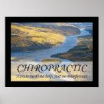 Chiropraktik-Zitat-u. Redewendungens-Natur Poster