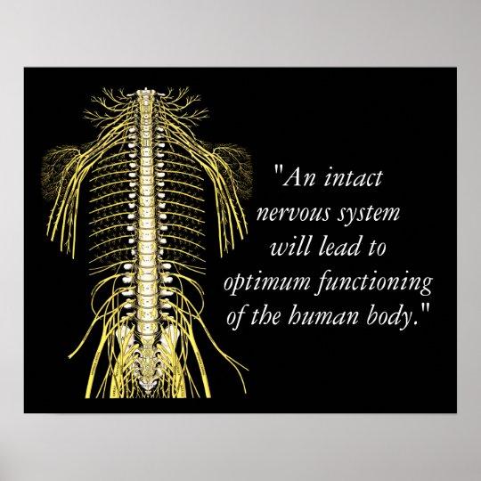 Chiropraktik-Zitat-u. Redewendungens-Nerven Poster | Zazzle
