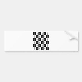 Chirstmas Baum-Schach Autoaufkleber