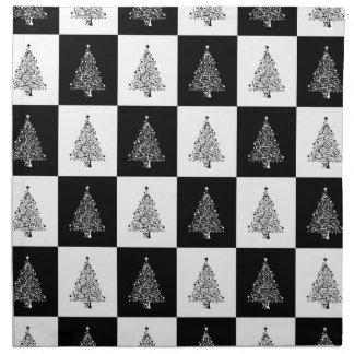 Chirstmas Baum-Schach Stoffserviette