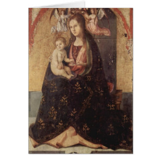Chirstmas - Madonna u. Kind Antonello DA Messina Karte