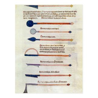 Chirurgische Instrumente von einer Abhandlung Postkarte