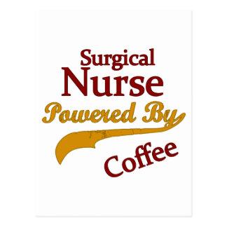 Chirurgische Krankenschwester angetrieben durch Postkarte