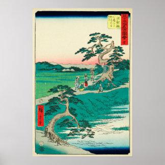 Chiryuu, Japan: Vintager Woodblock Druck Poster