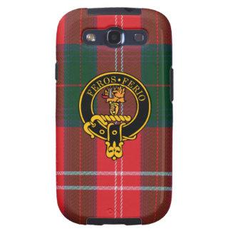 Chisholm schottisches Wappen und Tartan S3 rufen Galaxy SIII Hüllen