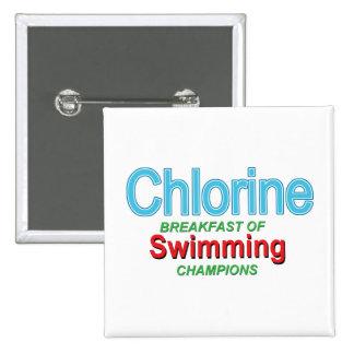 Chlor-Frühstück der Schwimmer Anstecknadelbutton