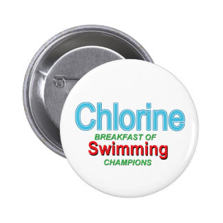 Chlor-Frühstück der Schwimmer Runder Button 5,7 Cm
