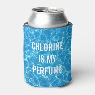 Chlor ist mein typografischer Parfüm-Swimmingpool Dosenkühler