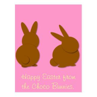 Choco Häschen, fröhliche Ostern vom Choco Bunn… Postkarte