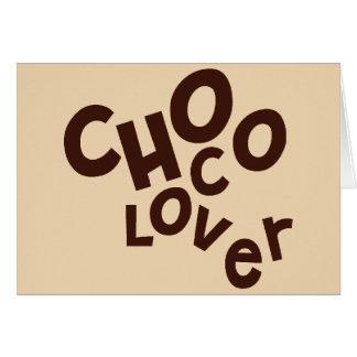 Choco Liebhaber-Gruß-Karte Karte