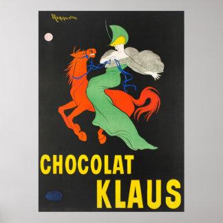 Chocolat Klaus Leonetto Cappiello Vintages Plakat