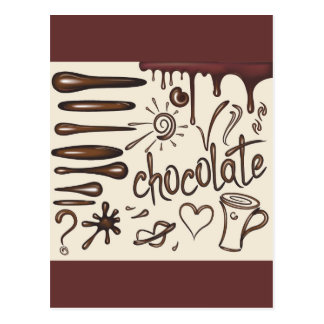 Chocolate3 Postkarte