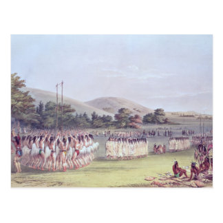 Choctaw Ball-Spiel Tanz, 1834-35 Postkarte