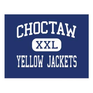 Choctaw - gelbe Jacken - hoch - Choctaw Oklahoma Postkarte