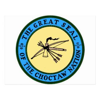 Choctaw-Nations-Siegel Postkarte