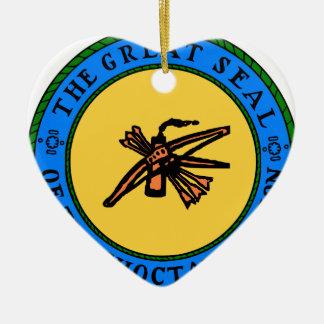 Choctaw-Siegel Keramik Ornament